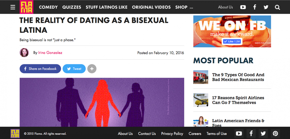 The reality of dating as a bisexual Latina