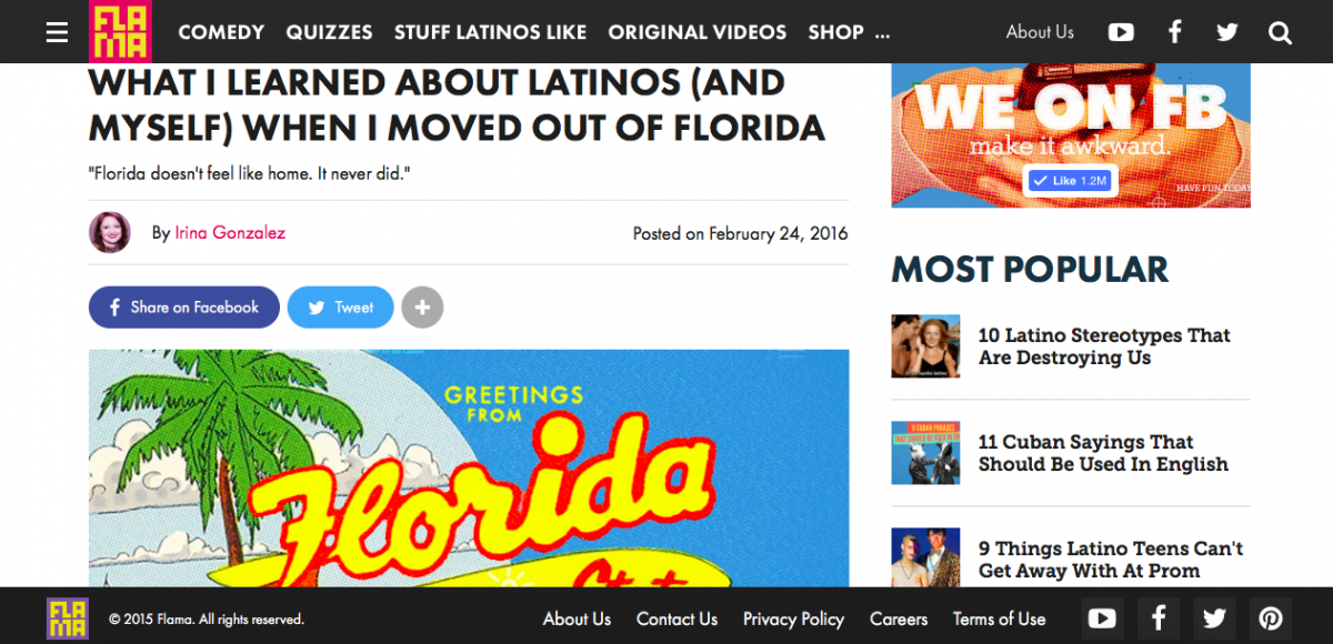 What I learned about Latinos (and myself) when I moved out of Florida