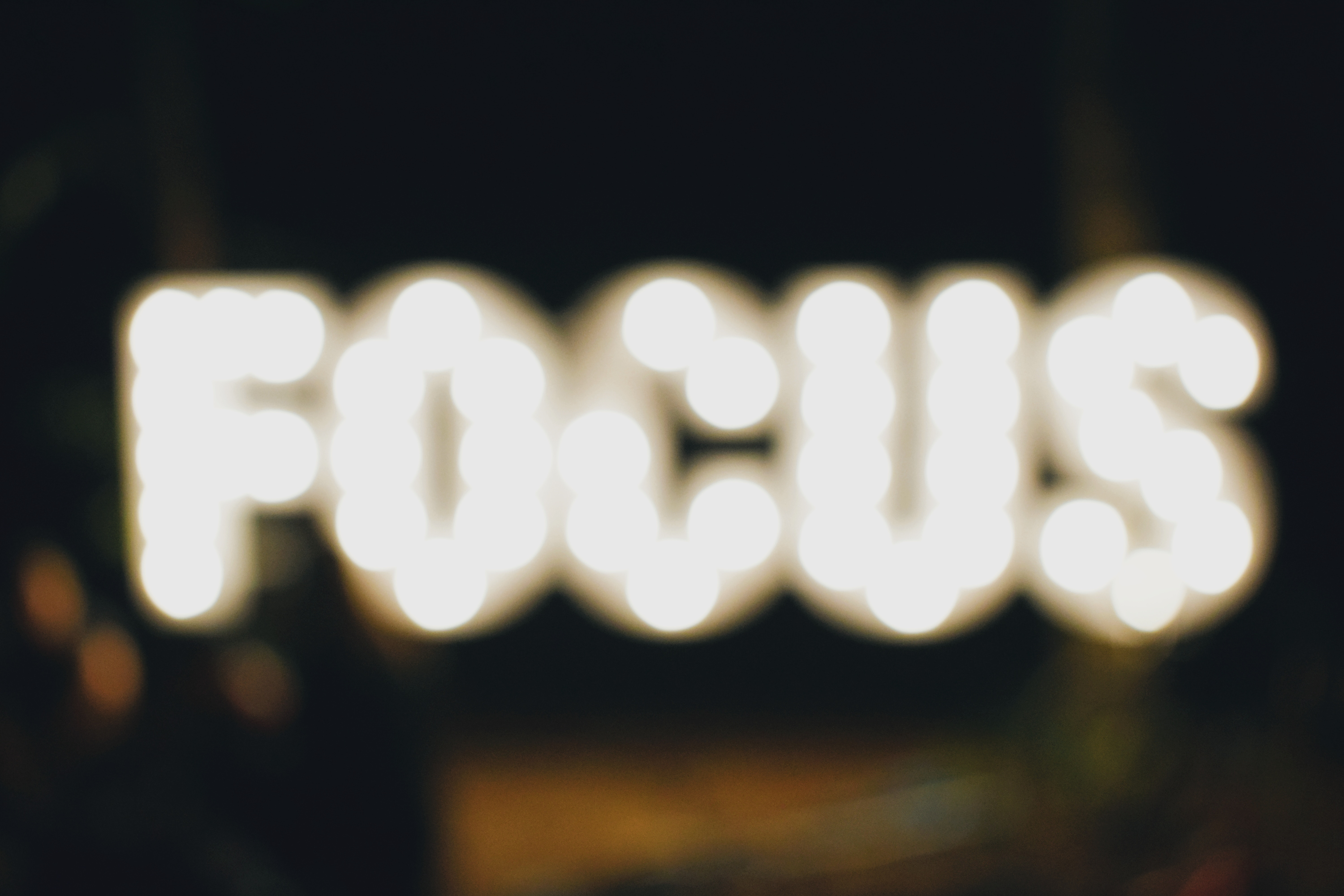 Why this is finally the year that I learn to focus