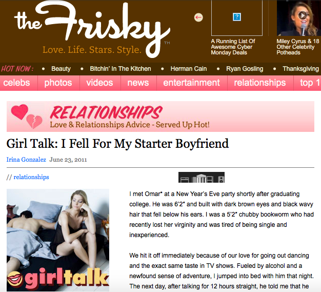 "I fell for my ""starter boyfriend"""